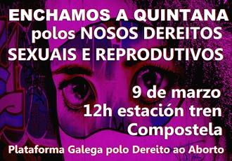 Manifestacion nacional o 9 de marzo polos dereitos sexuais e reprodutivos das mulleres