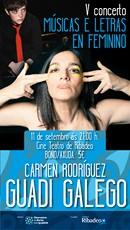 Guadi Galego e Carme Rodríguez no V Músicas e Letras en Feminino en Ribadeo!