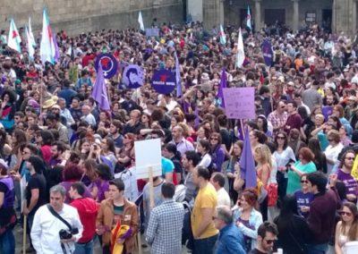 Manifestación nacional polos Dereitos sexuais e reprodutivos das mulleres - Marzo do 2014, Compostela-2