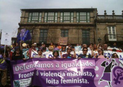 Manifestación nacional polos Dereitos sexuais e reprodutivos das mulleres - Marzo do 2014, Compostela